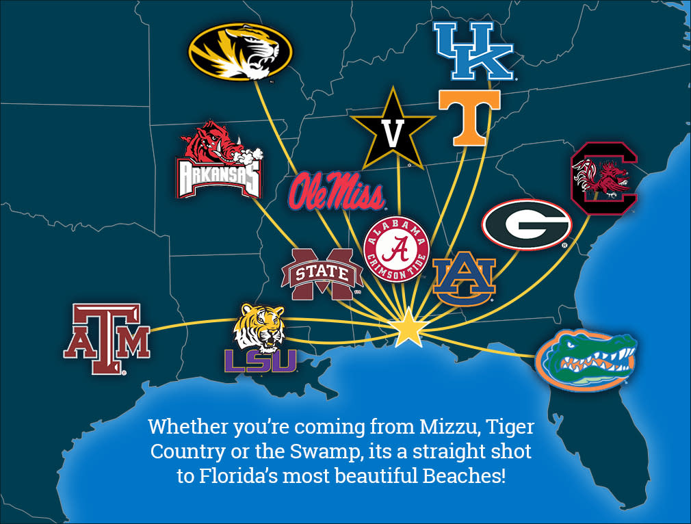 SEC Teams Map
