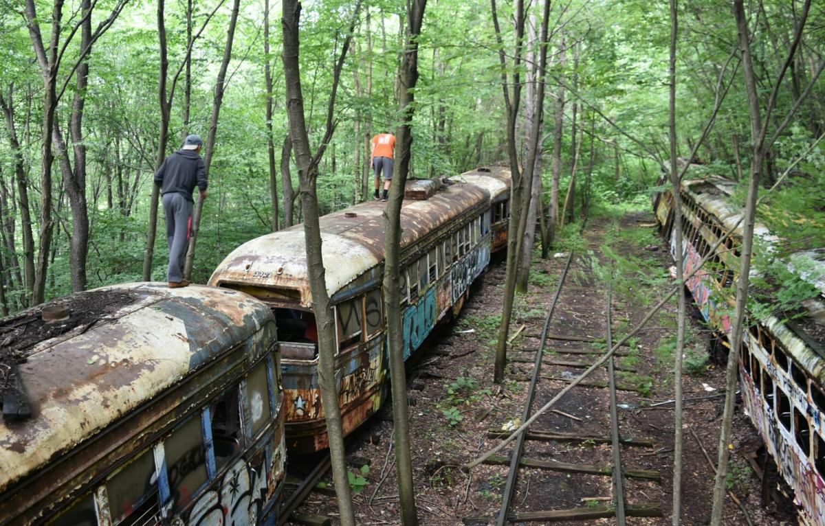 Trolley Graveyard Windber