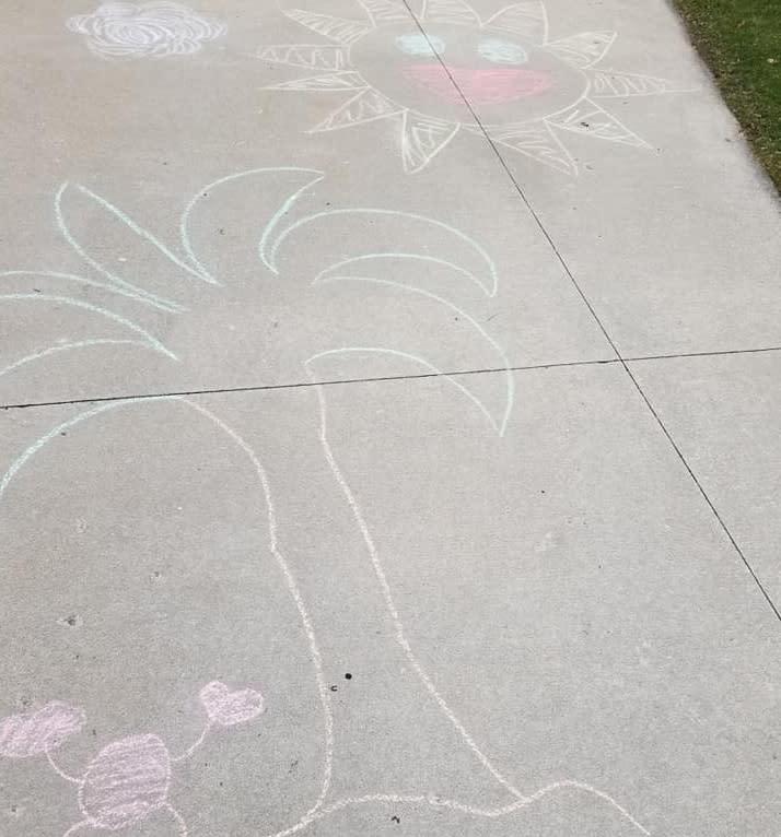 Driveway chalk art