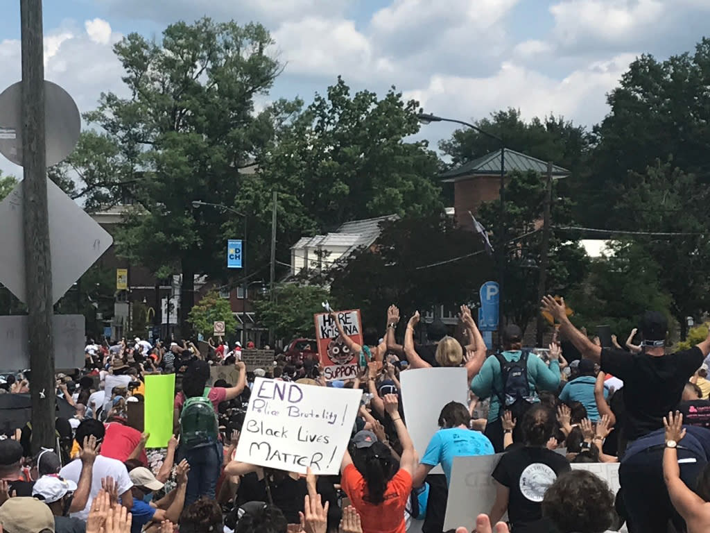 June 6 2020 Rally for Justice on Franklin Street Chapel Hill