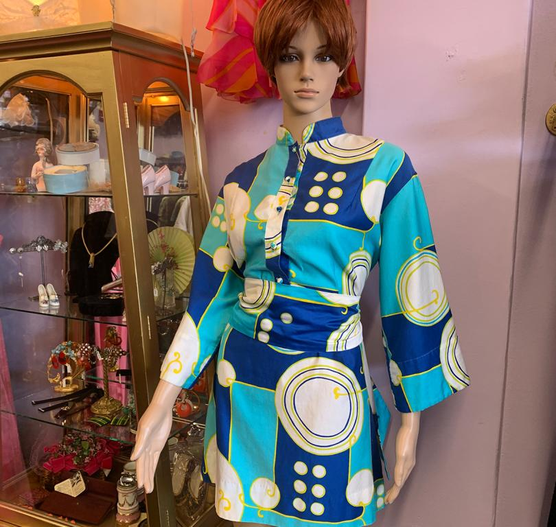 Golden Curio and 70s Dress
