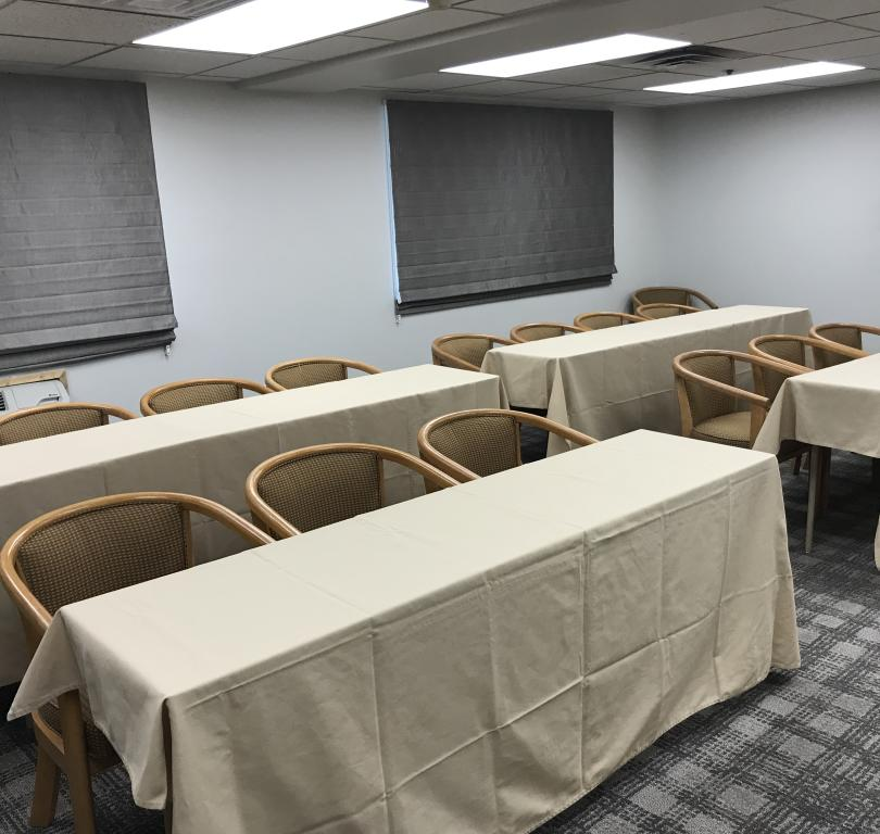 meeting room with seating up to 25