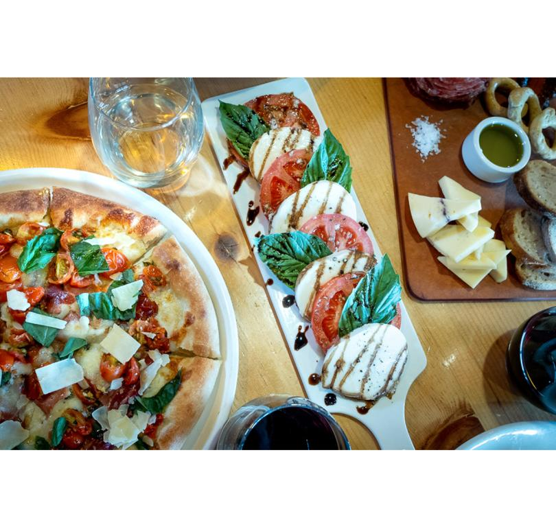 Pizza, Caprese Salad, Charcuterie Boards