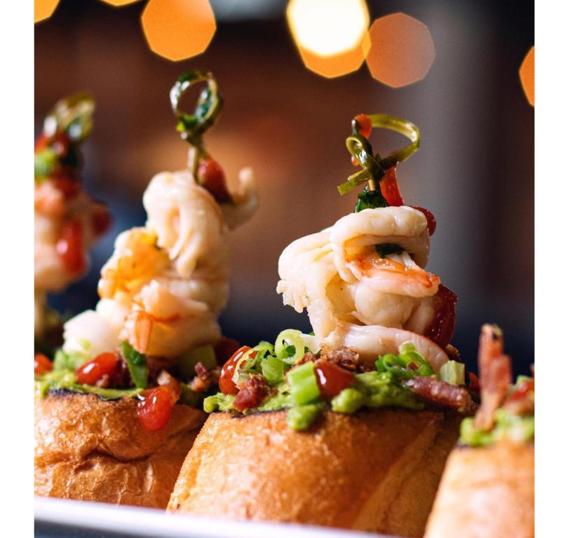 Avocado Shrimp Toasts