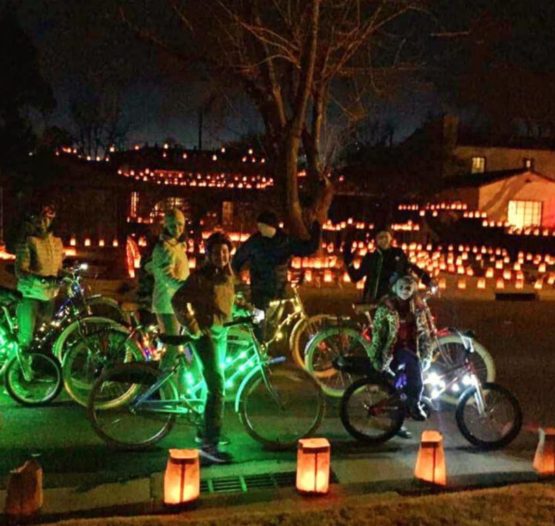 Routes Bicycle Lights & Luminarias Bike Tour