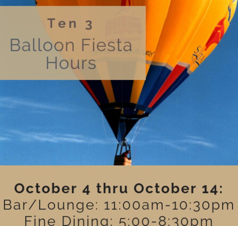 Balloon Fiesta Hours