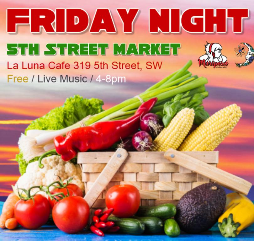 Friday Night 5th Street Market @ La Luna Cafe | Albuquerque | New Mexico | United States
