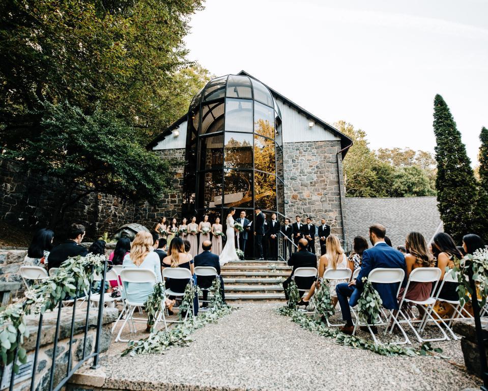 Soda House - Patio Wedding Ceremony