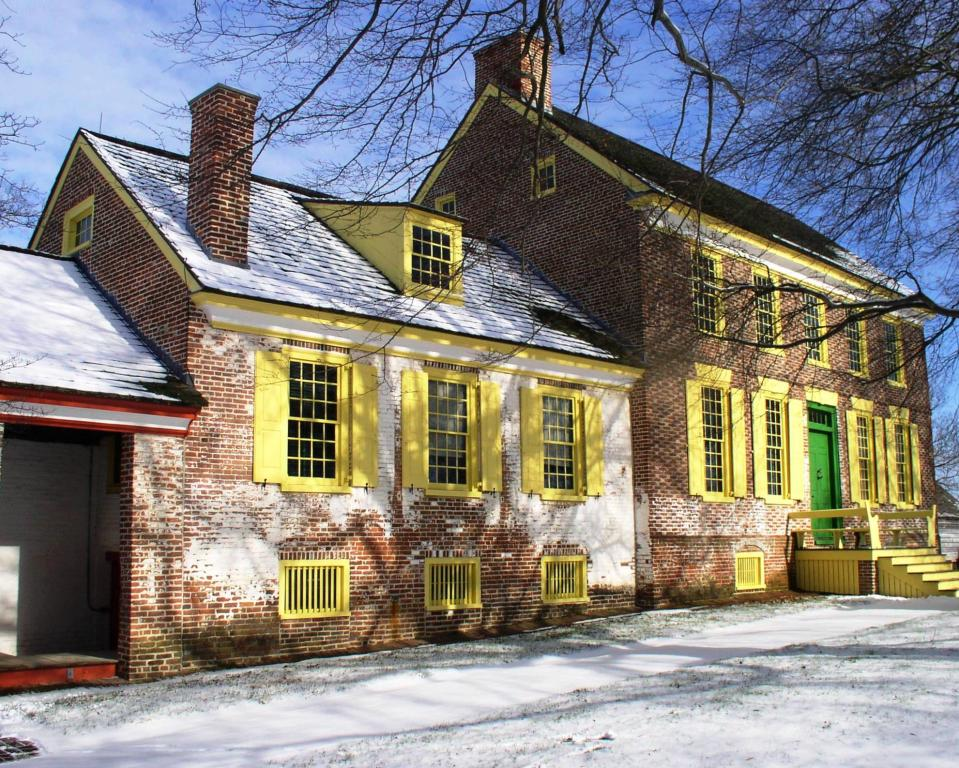 John Dickinson Mansion in the snow
