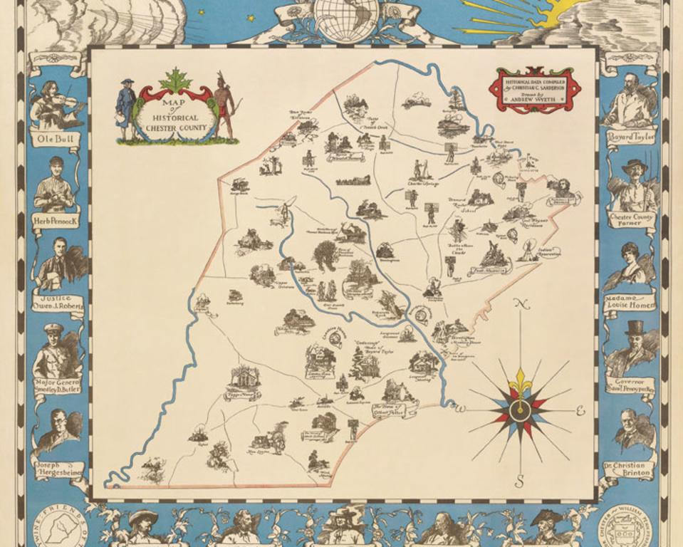 Sanderson-Wyeth Map of Historical Chester County
