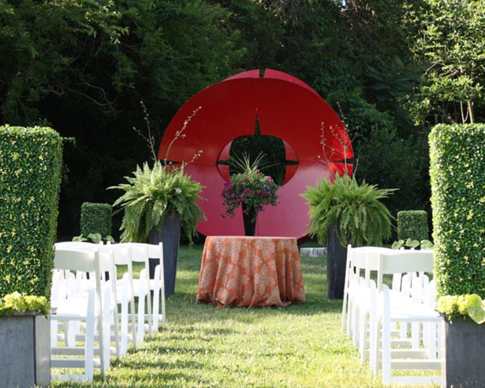Sculpture Garden Ceremony
