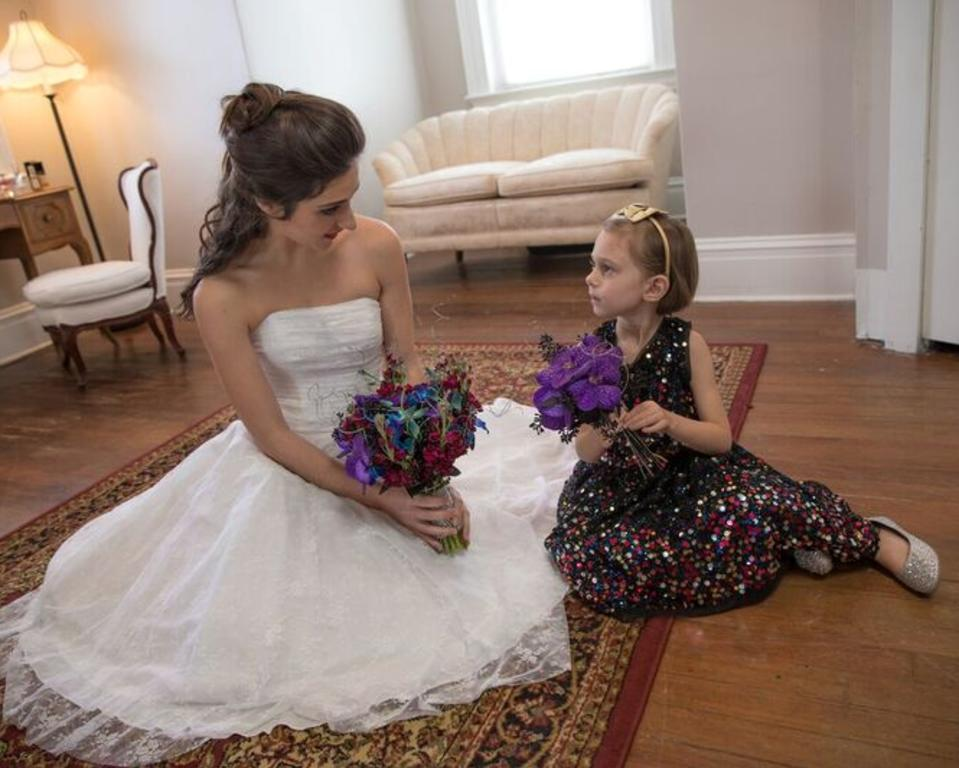 Bridal Suite moment with the Flower Girl