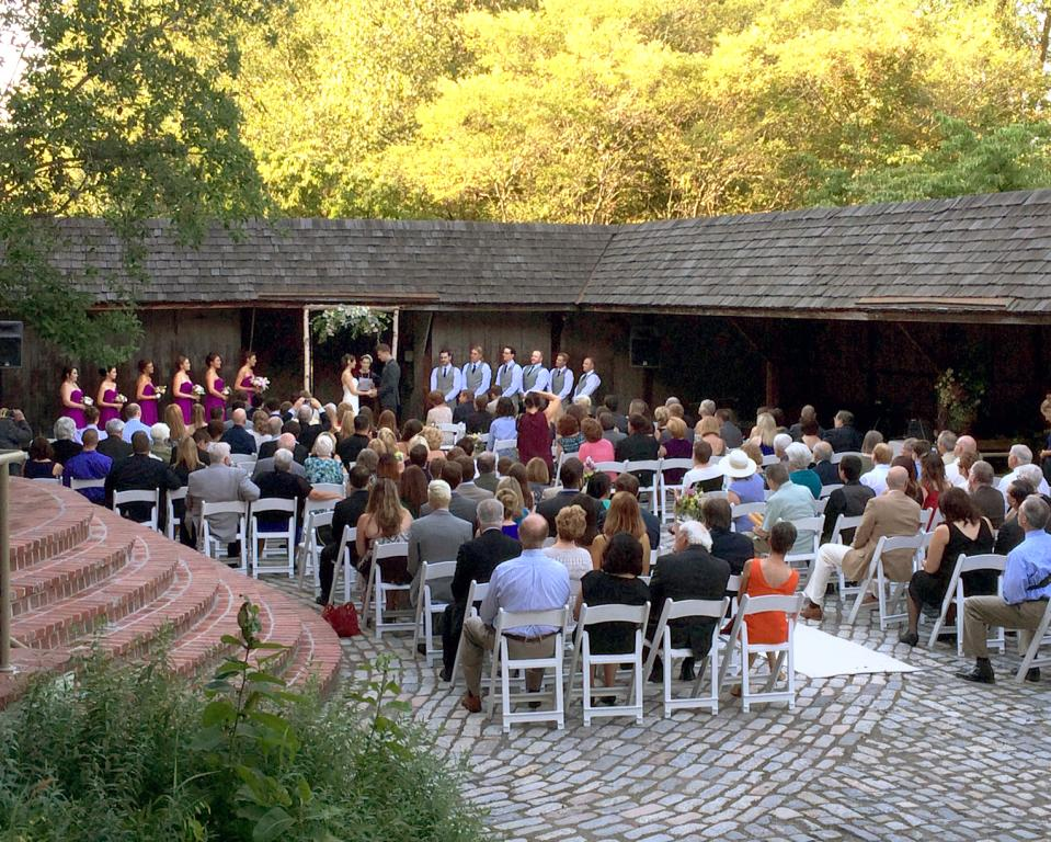 Events in the Brandywine River Museum of Art's courtyard