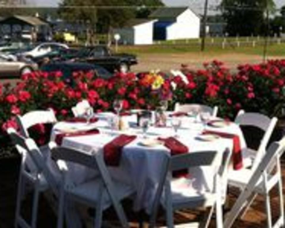 Patio banquet setup