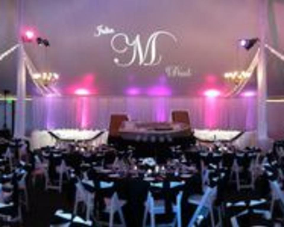 reception with lighting