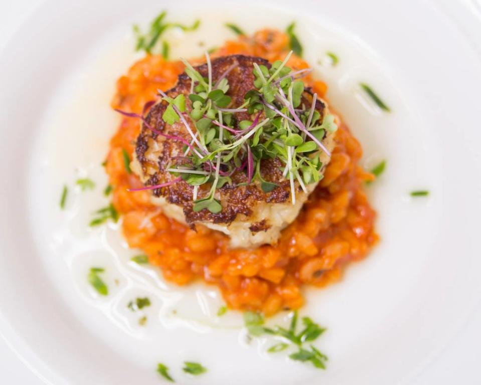 Lobster Risotto Crab Cake at the Hilton Wilmington Christian