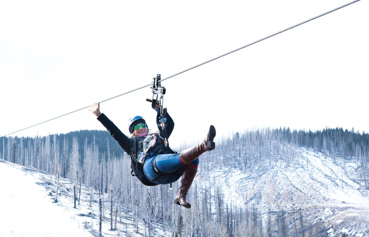 Ziplining at Ski Apache