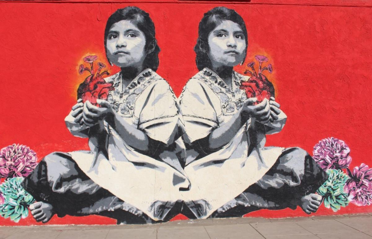 red mural