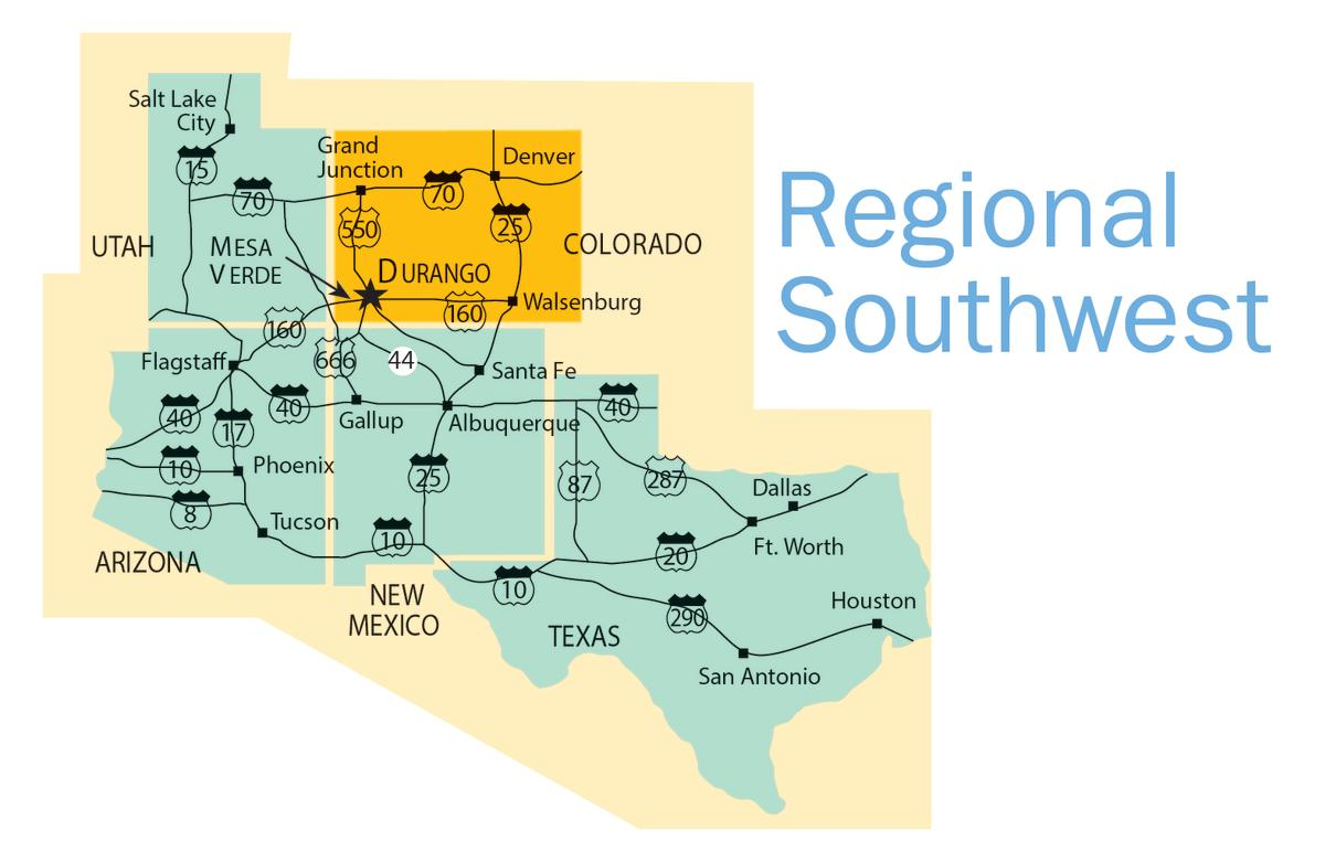 Regional Southwest Map