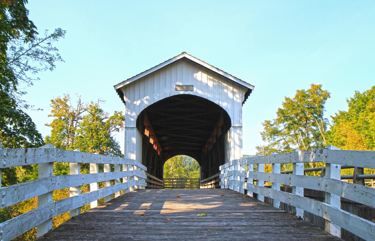 Currin Covered Bridge by Patrice Raplee