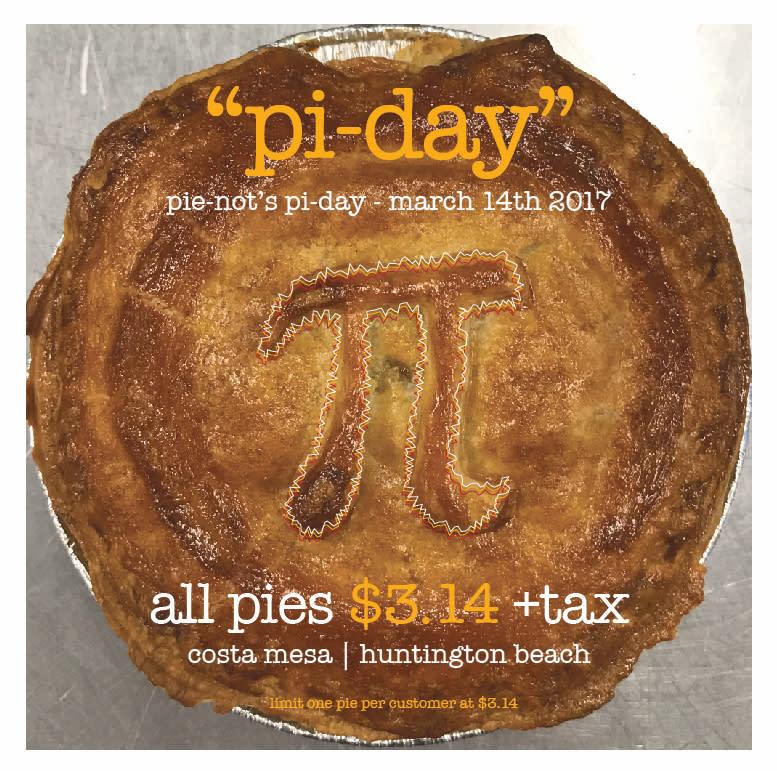 Pi Day Pie-Not