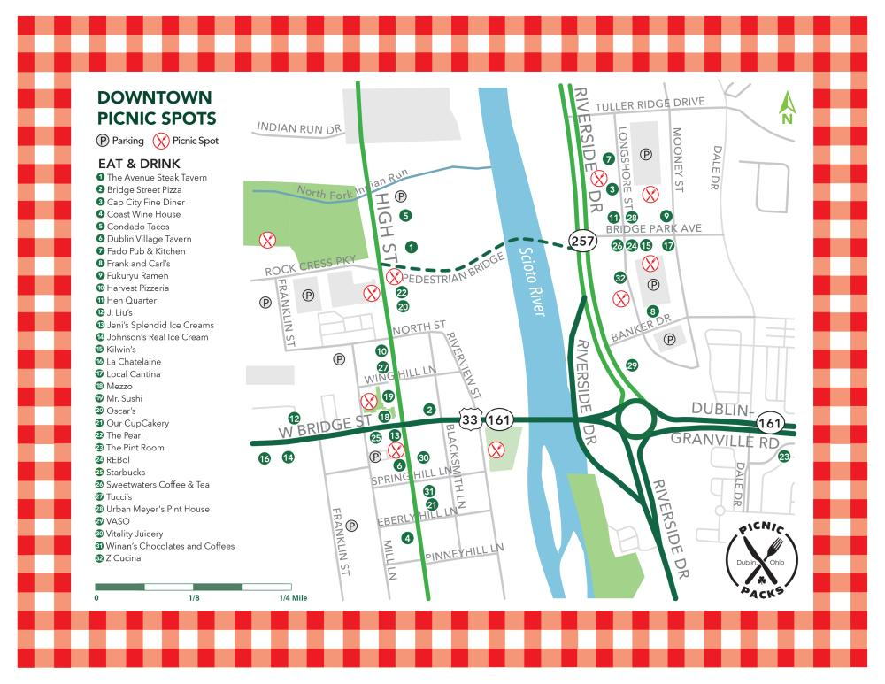 Downtown Picnic Spots Map