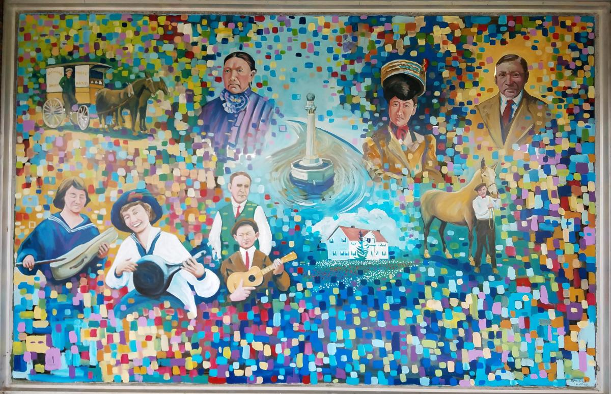 Fife History Museum mural