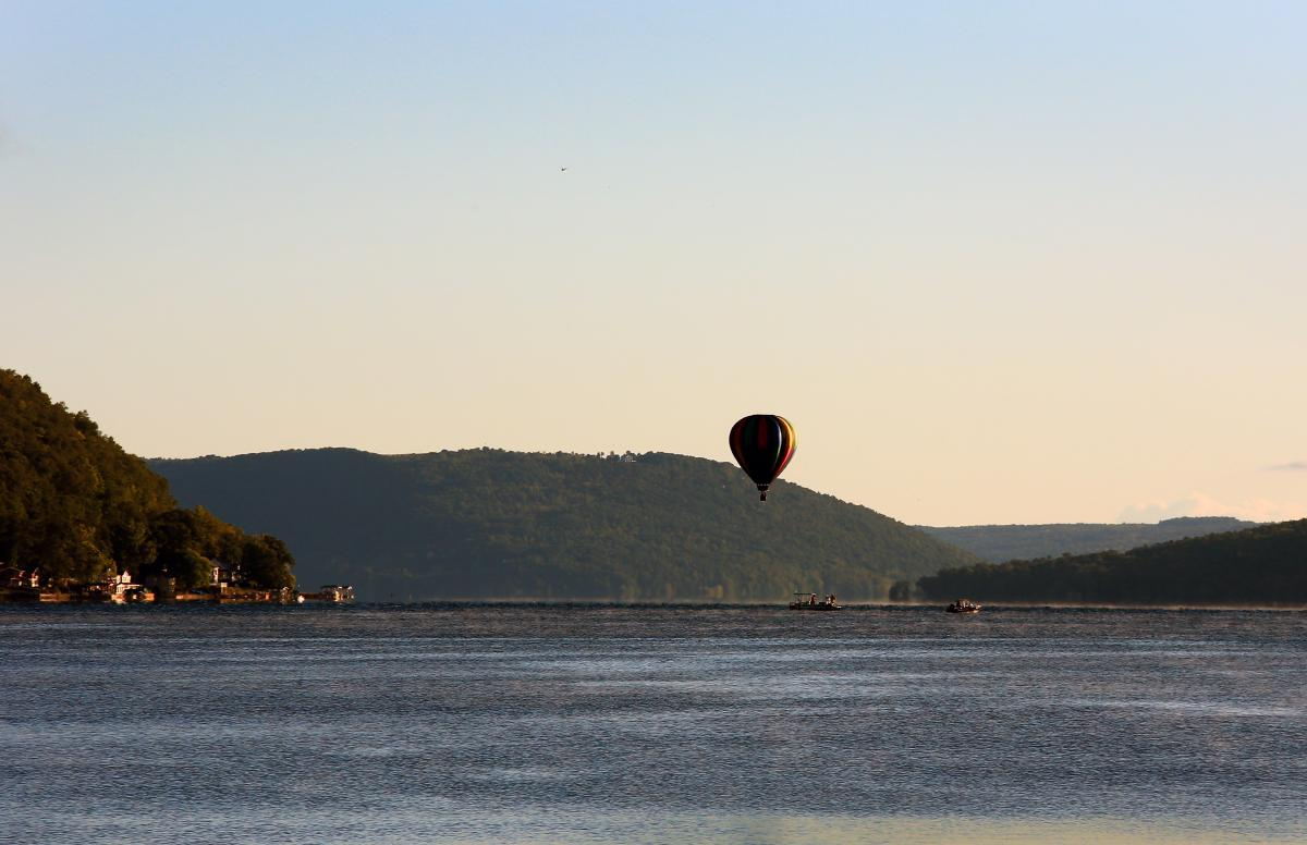 Hot Air Balloon Over Keuka Lake