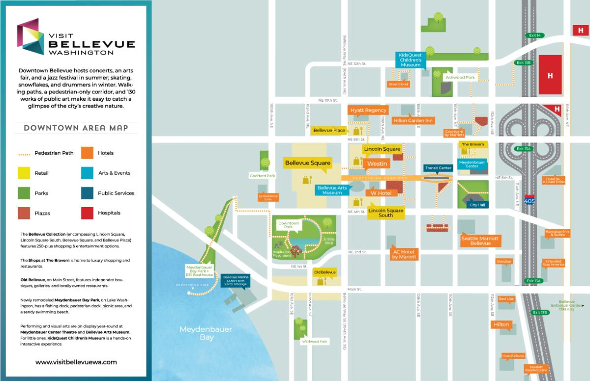 Downtown Bellevue Map Thumbnail