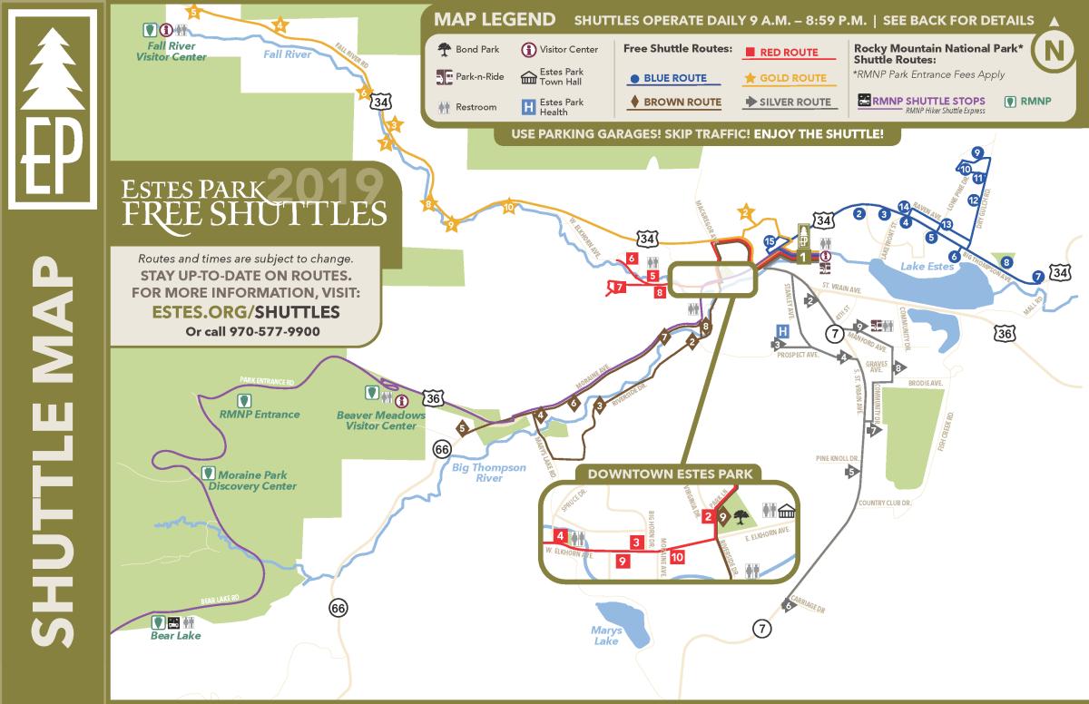 2019 Estes Transit Map