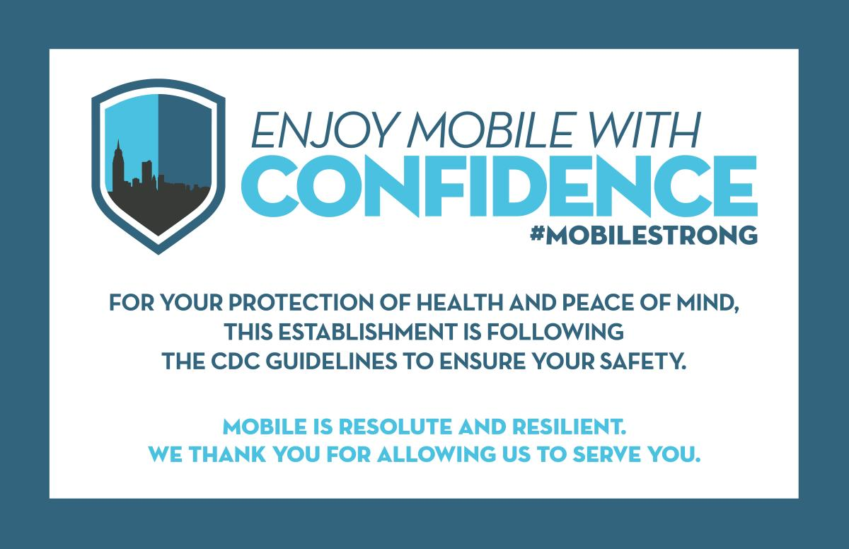 General Enjoy Mobile with Confidence Banner / Sign