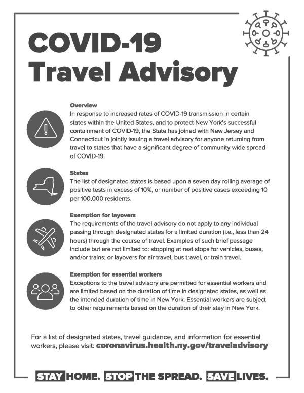 State Travel Advisory Flyer