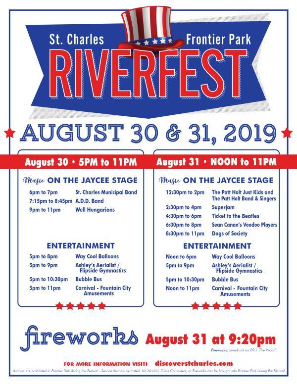 2019 Riverfest August Flyer