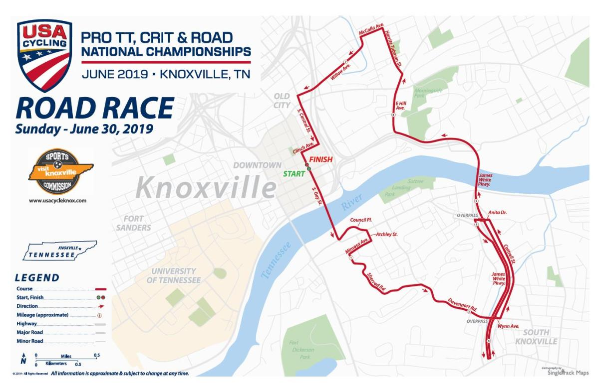 Square - USA Cycling Road Race Map