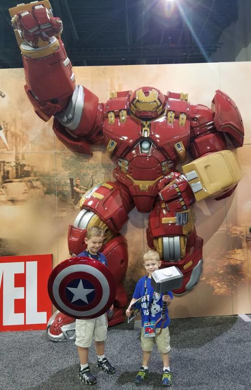 HASCON Mark 44 Hulkbuster Iron Man Suit display in Providence