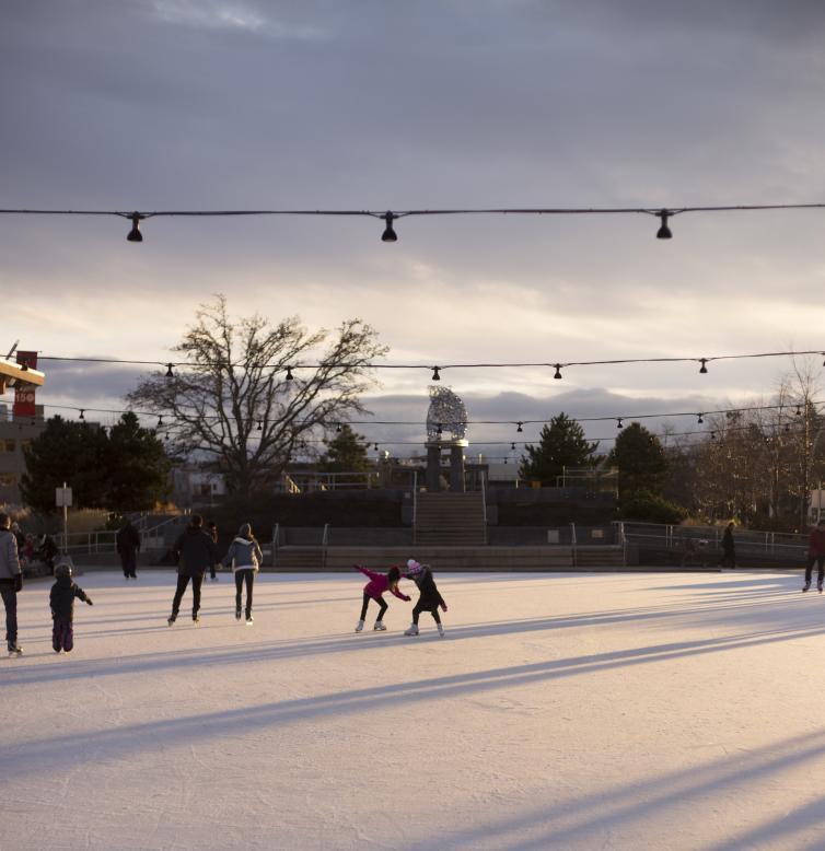 Skating at Stuart Rink
