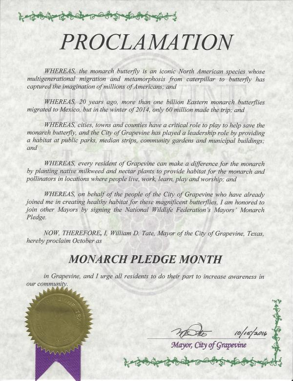 Monarch Pledge
