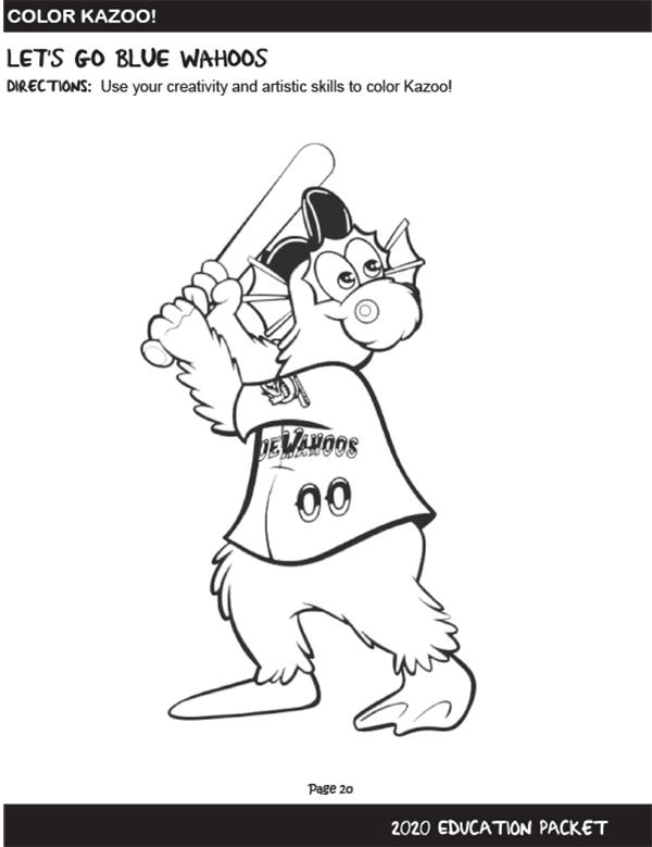 Wahoos Coloring Sheet