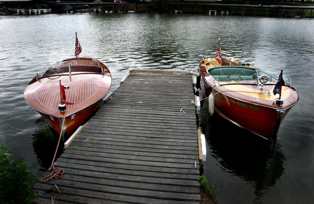 Boats on Lake Tobesofkee