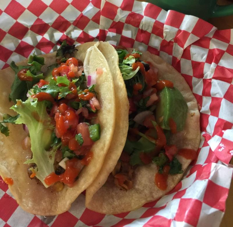 vegan tacos Good Truckin Diner