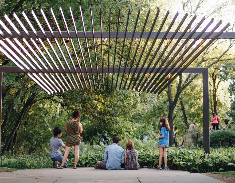 People enjoying UMLAUF Sculpture Garden and Museum in austin texas