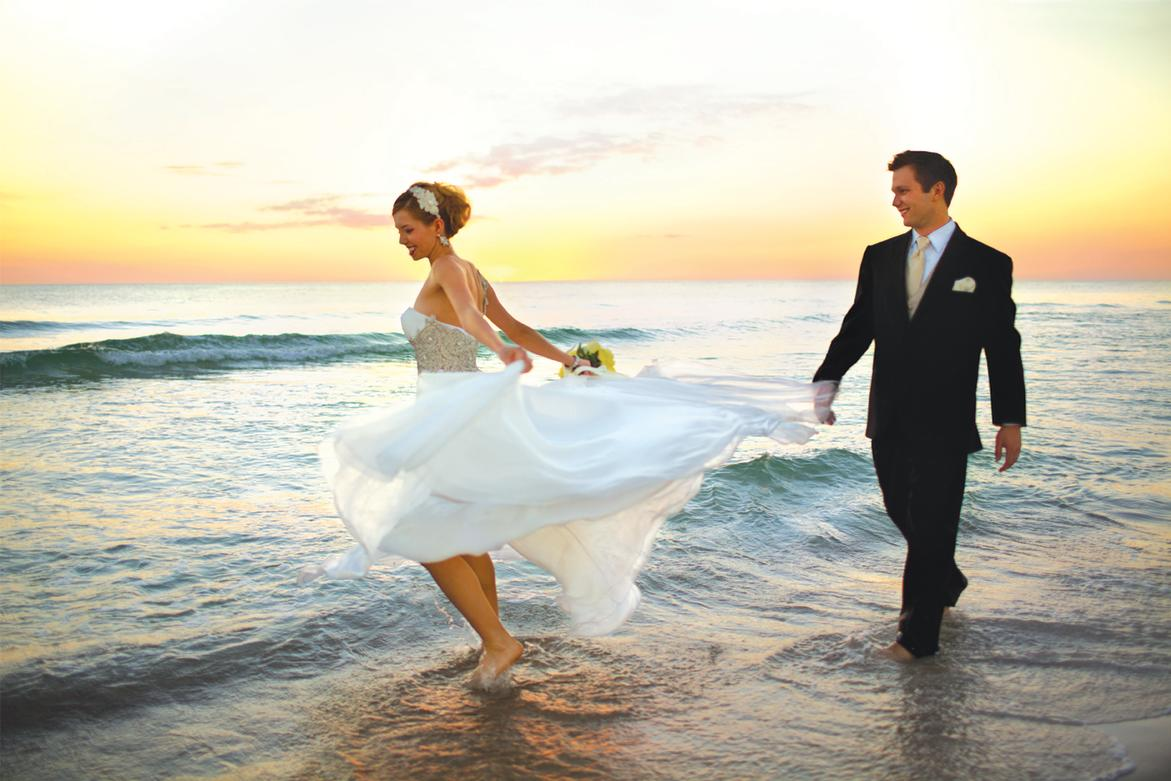 beach wedding destination wedding Panama City Beach Florida
