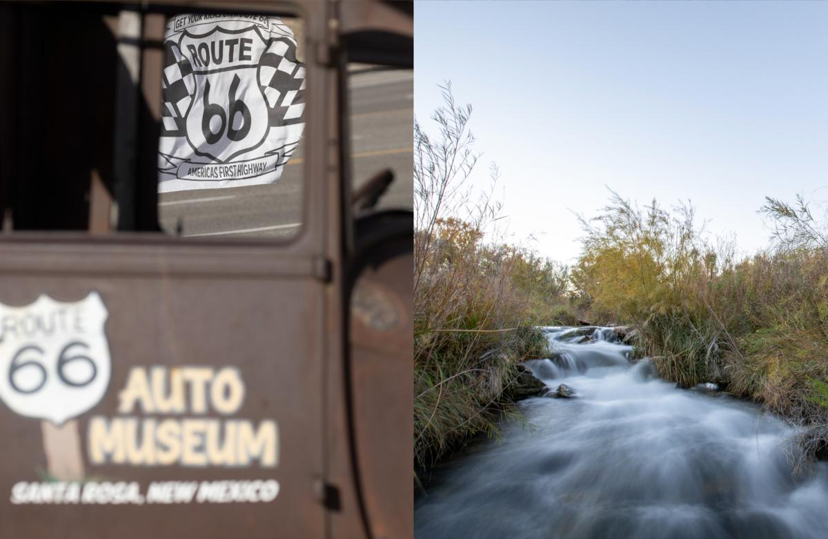 A spring-fed creek at the Blue Hole. Historic Route 66 still fuels nostalgia in Santa Rosa, New Mexico Magazine