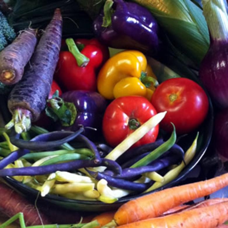 Buy fresh food at your local farmers' market.