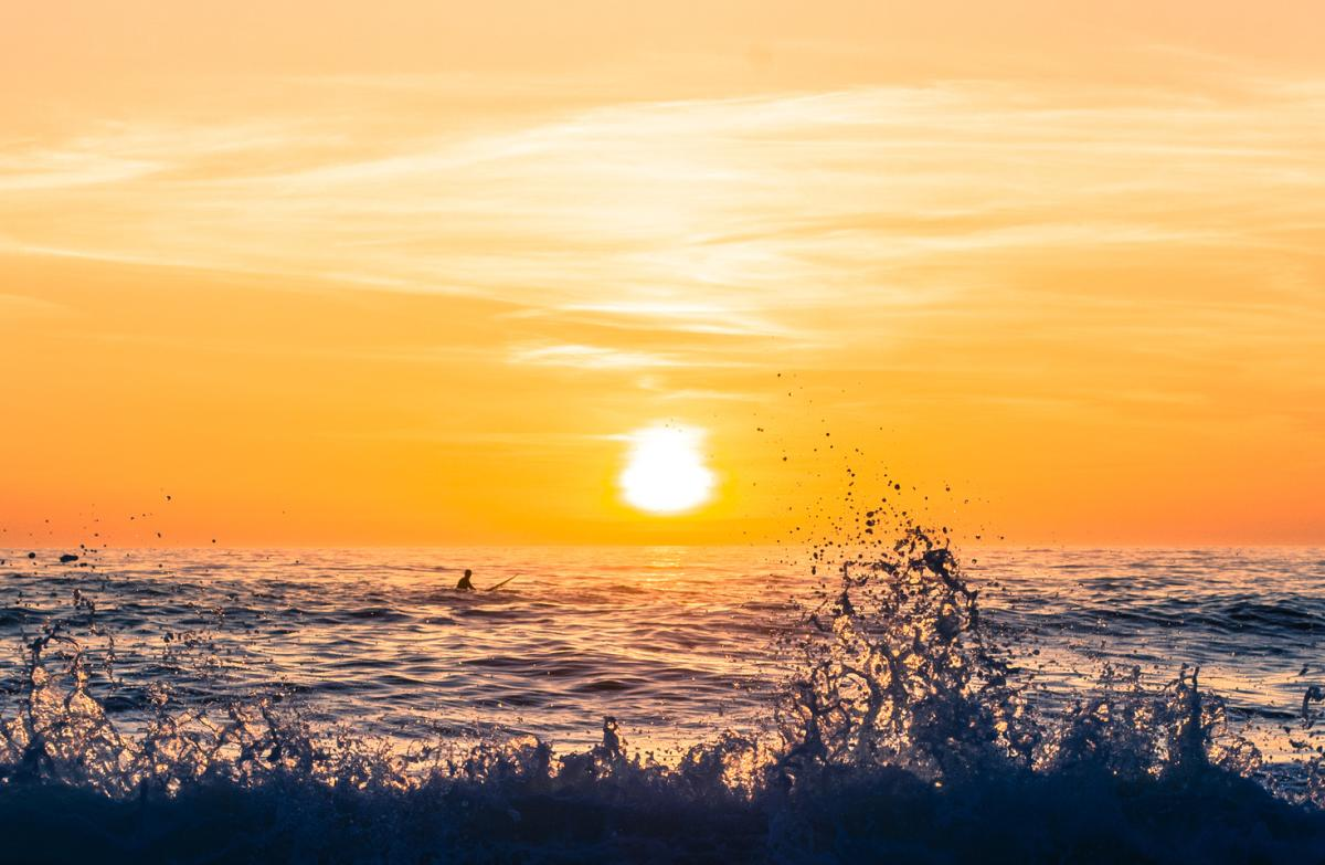 Sunset at Montara State Beach in San Mateo County