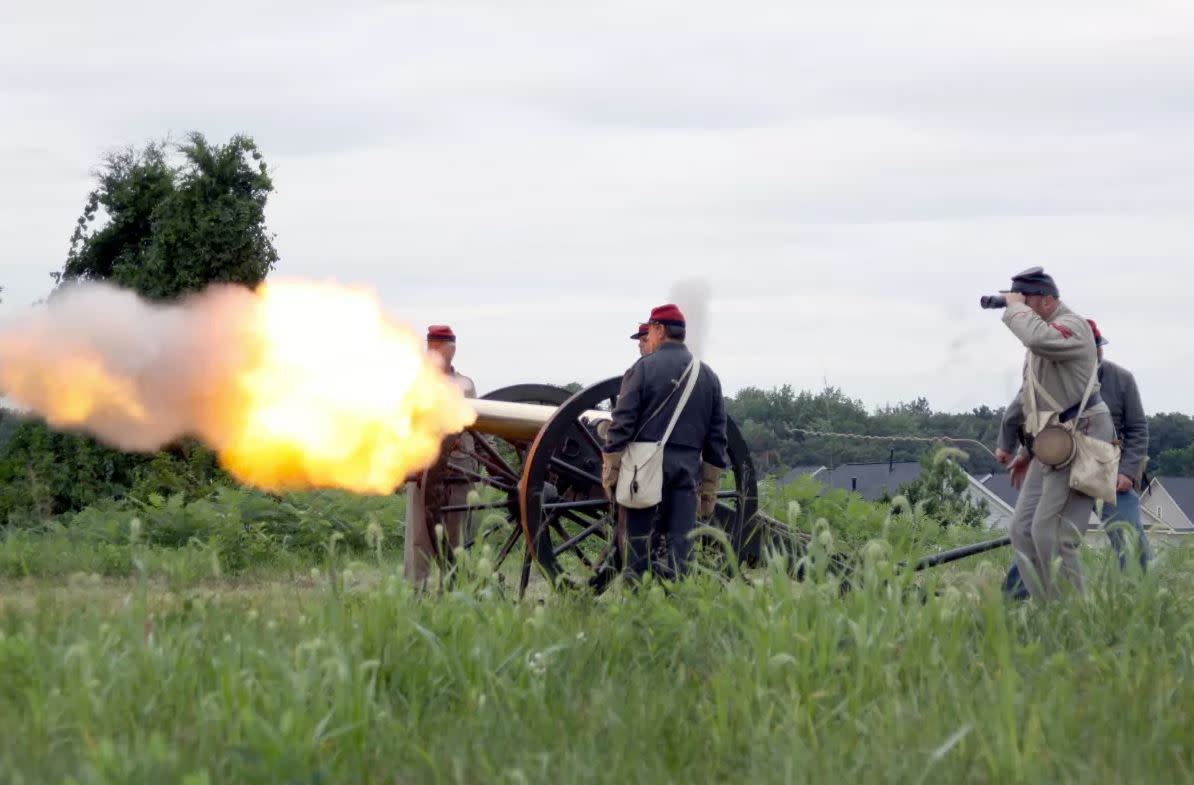 Bristoe Station Cannon Firing
