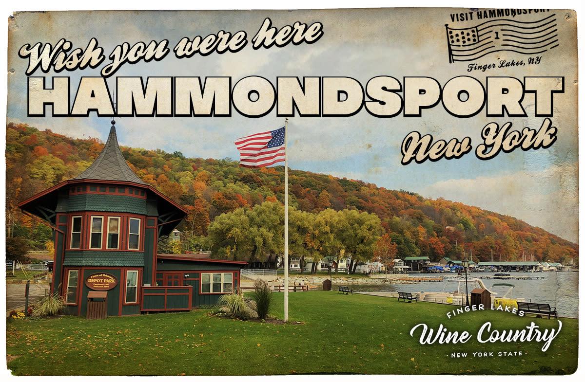 Hammondsport Postcard - WYWH2020