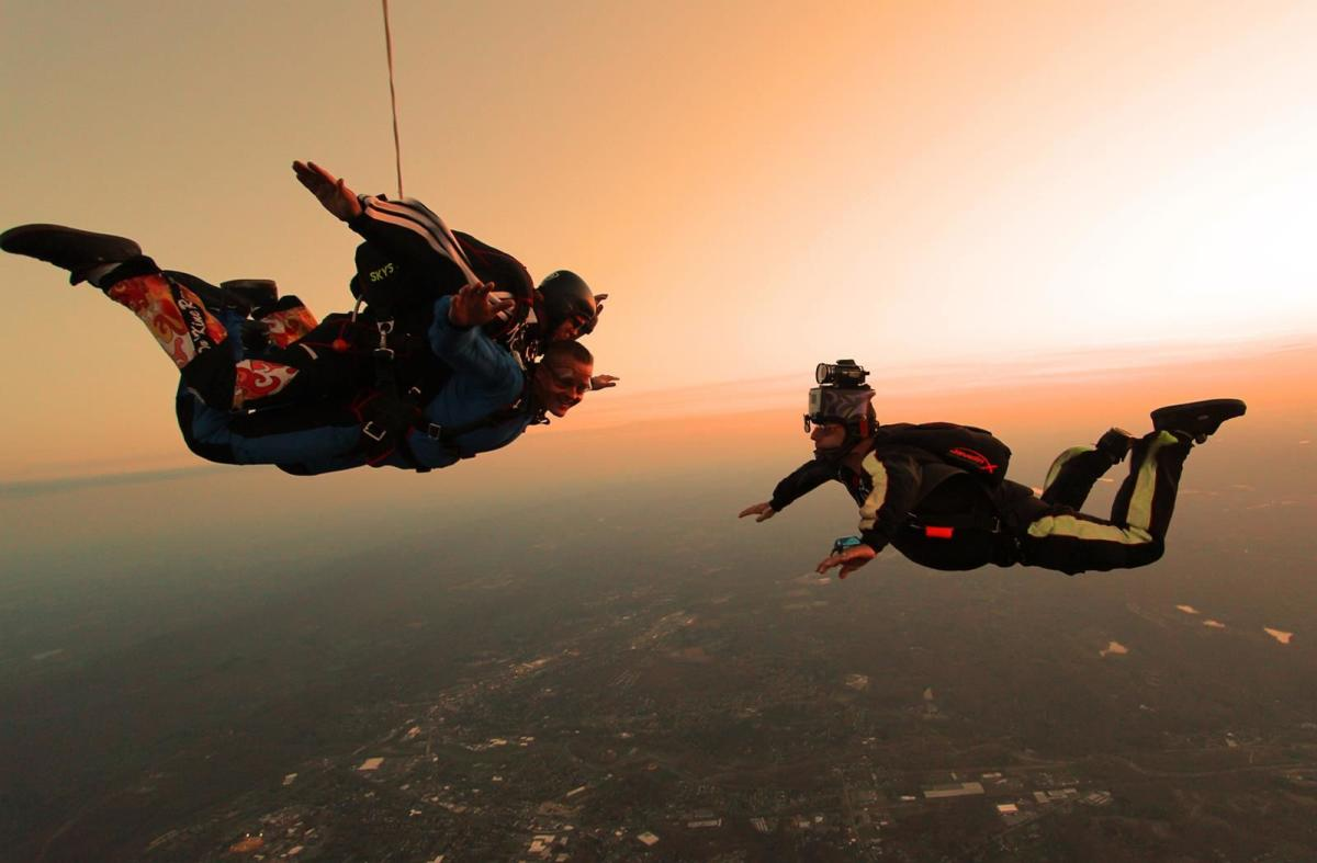 Skydiving in the Pocono Mountains