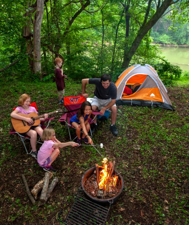 Camping - Explore Park - Roanoke River