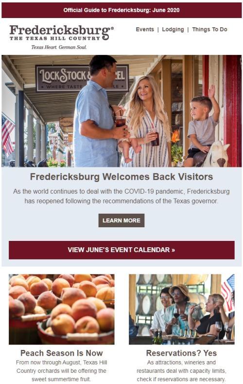 Monthly Visitor Consumer Newsletter